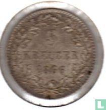 Baden 3 kreuzer 1866