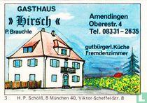 """Gasthaus """"Hirsch"""" - P. Brauchle"""