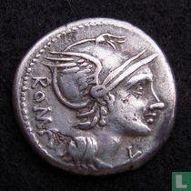 Romeinse Republiek Denarius 109-108 BC L. Flaminius Cilo