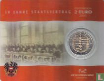 "Austria 2 euro 2005 (coincard) ""50th Anniversary of the Austrian State Treaty"""