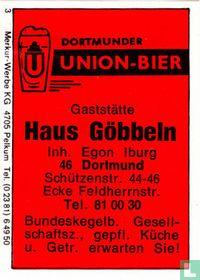 Union-Bier Gaststätte Haus Göbbeln - Egon Iburg