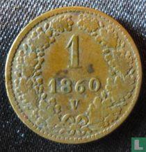 Austria 1 kreuzer 1860 (V)
