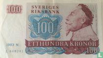 Schweden 100 Kronor 1983