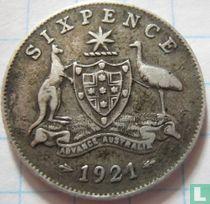 Australië 6 pence 1921