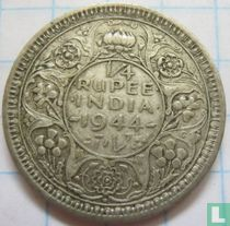 Brits-Indië ¼ rupee 1943B (Security)