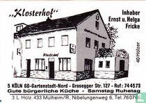 """""""Klosterhof"""" - Ernst u. Helga Fricke"""