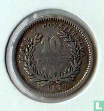 Uruguay 10 céntesimos  1877