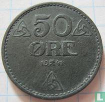 Norwegen 50 Øre 1941 (Zink)