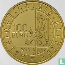 """Belgium 100 euro 2013 (PROOF) """"20th Anniversary of the death of King Baudouin"""""""