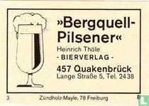"""Bergquell-Pilsener"" - Heinrich Thöle"