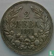 Bulgarije 2 leva 1891
