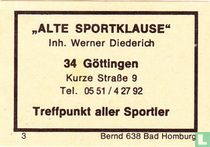 """""""Alte Sportklause"""" - Werner Diederich"""