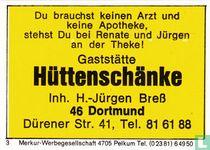 Gaststätte Hüttenschänke - H.-Jürgen Bress