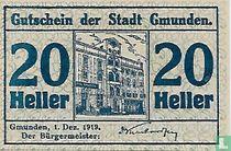 Gmunden 20 Heller 1919