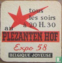 Pour votre santé, buvez Léberg Eau Minérale de Source / Tous les soirs à 20 H. 30 au Plezanten Hof Expo 58