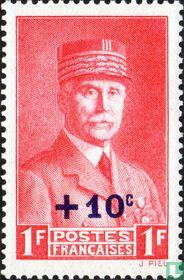 Maarschalk Pétain, met opdruk