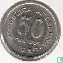 Argentinië 50 centavos 1956
