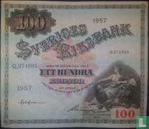 Schweden 100 Kronor 1957