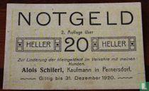 Pernersdorf 20 Heller 1920
