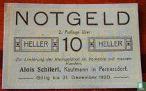 Pernersdorf 10 Heller 1920
