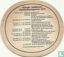 Jubiläums Volksfestprogramm