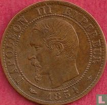 Frankrijk 1 centime 1854 (BB)