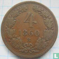 Austria 4 kreuzer 1860 (B)
