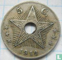 Belgian Congo 5 centimes 1919