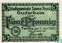 Tanna 5 Pfennig 1920