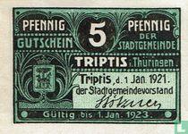 Triptis 5 Pfennig 1921