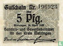 Meiningen 5 Pfennig 1920