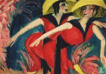 Zwei rote Tänzerinnen, 1914