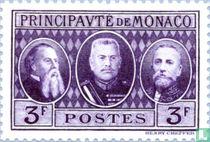 Karel III, Lodewijk II en Albert I van Monaco