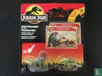 Ceratosaurus en Triceratops