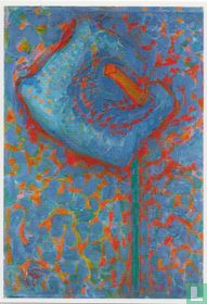 Aaronskelk, blauwe bloem, 1908/09