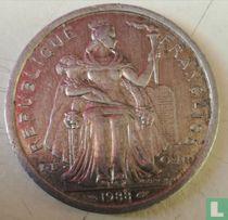 Frans-Polynesië 2 francs 1988