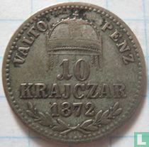 Hongarije 10 krajczar 1872