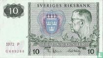 Schweden 10 Kronor 1972