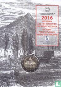 "Griekenland 2 euro 2016 (folder) ""150th anniversary of the Arkadi Monastery Torching"""
