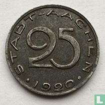 Aachen 25 Pfennig 1920 (Text von der Kante weg)