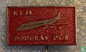 K.L.M. Douglas DC-8 [rood}