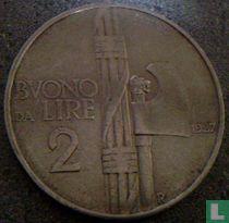 Italien 2 Lire 1927