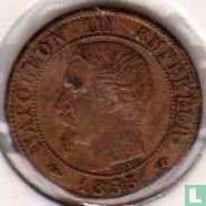 Frankrijk 1 centime 1855 (A - hond)