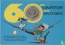 """Belgium 5 euro 2017 (coincard) """"60 years Gaston Lagaffe"""""""