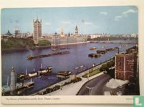 The Houses of Parliament and the River Thames.