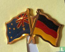 Vlaggen Australië-Duitsland