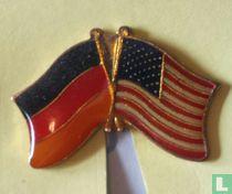 Vlaggen Duitsland-USA