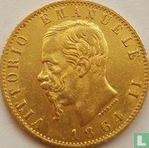 Italië 20 lire 1864