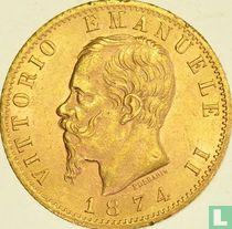 Italië 20 lire 1874 (M)