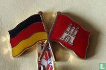 Vlaggen Duitsland-Hamburg